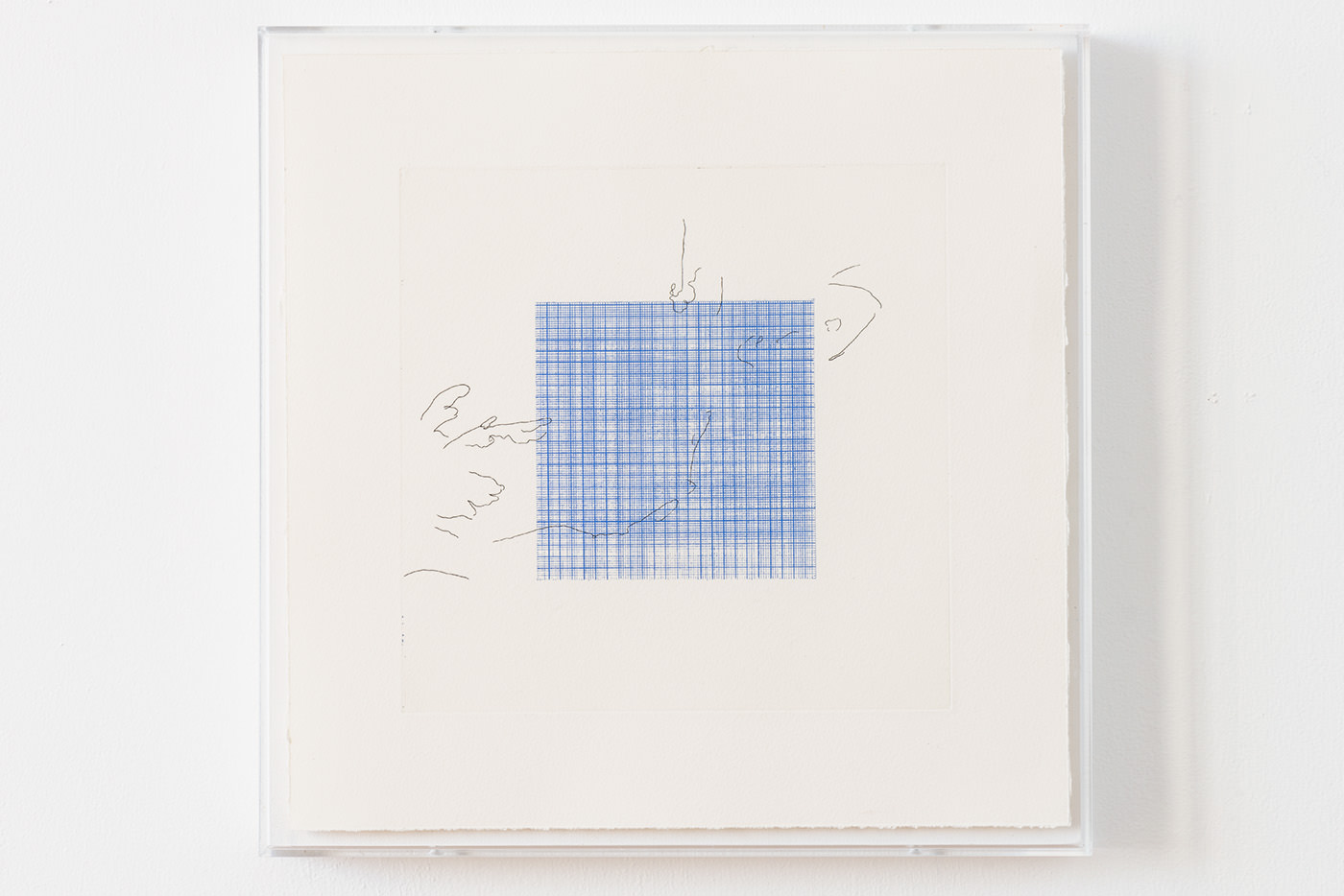 lines ( e.l ), アルシュ紙にエッチング (2版2色 ) (etching on arches paper, 2plates 2colors ), 350 × 350 mm / 2014 ( photo by Ken Kato )