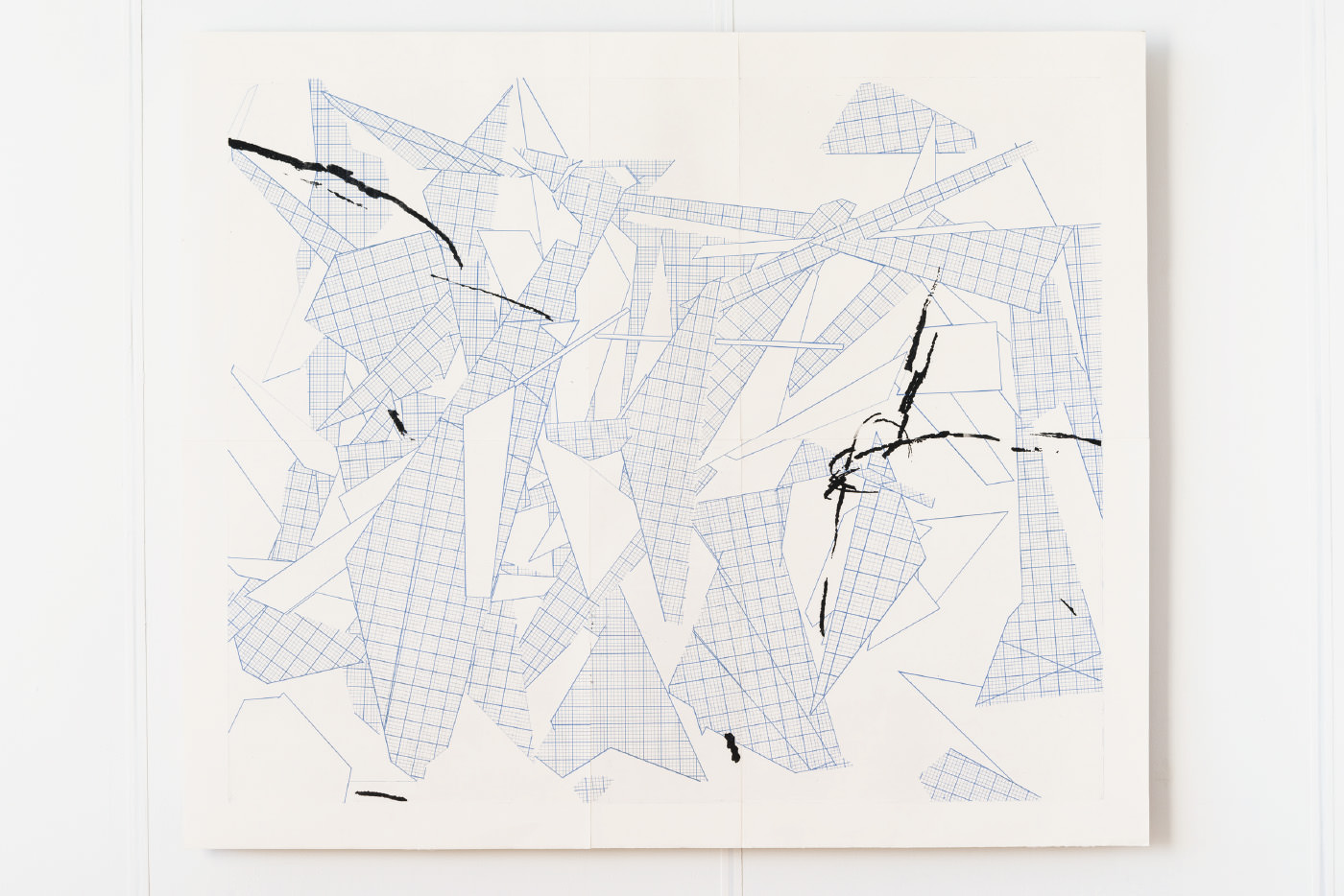 memo ( a source of elephant ) , アルシュ紙にエッチング (2版2色 )(etching on arches paper, 2plates 2colors), 1360 × 1610 × 32 mm, 2013 ( photo by Ken Kato )