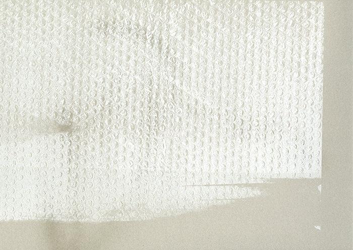 [ 新作 ] bubble wrap (gray): 2016, screenprint on paper