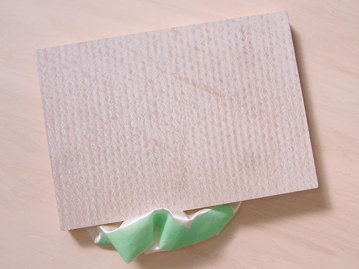 [ 新作 ] bubble wrap with a green tape: 2016, screenprint on panel, satin